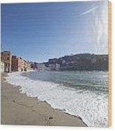 Sestri Levante With The Beach Wood Print