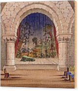 Set Design For Hamlet By William Wood Print