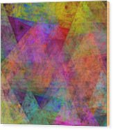 Set Sails On The Open Sea Abstract Wood Print