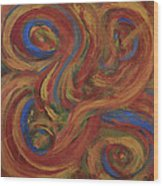 Set To Music - Original Abstract Painting Painting - Affordable Art Wood Print