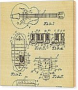 Seth Lover Gibson Humbucker Pickup Patent Art 1959 Wood Print