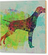Setter Pointer Watercolor Wood Print