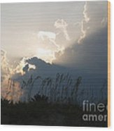 Setting Rays At Sand Dunes Wood Print