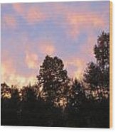 Setting Sky Wood Print