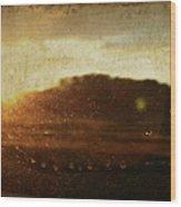 Setting Sun Abstract Wood Print