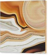 Setting Sun Over River Canyon Wood Print