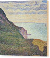 Seurat's Seascape At Port Bessin In Normandy Wood Print