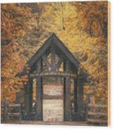 Seven Bridges Trail Head Wood Print