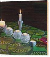 Seven Candles Wood Print