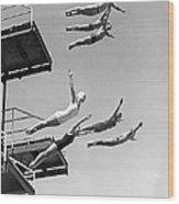 Seven Champion Diving In La Wood Print