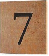 Seven Wood Print