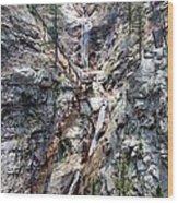 Seven Falls Wood Print