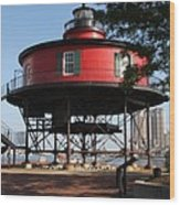 Seven Foot Knoll Lighthouse - Baltimore Harbor Wood Print