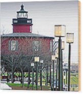 Seven Foot Knoll Lighthouse Wood Print