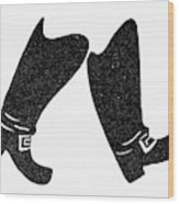 Seven League Boots Wood Print