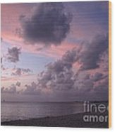 Seven Mile Beach Sunset Wood Print
