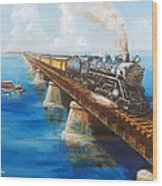 Seven Mile Bridge Wood Print