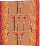 Seven Of Wands Wood Print