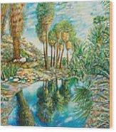 Seven Palms Oasis Wood Print