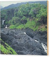 Seven Sacred Pools Haleakala National Park Maui Hawaii Wood Print