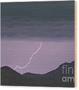 Seven Springs Lightning Strikes Wood Print by James BO  Insogna