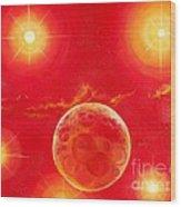 Seven Suns Wood Print