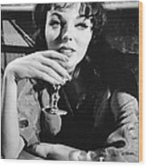 Seven Thieves, Joan Collins, 1960 Wood Print