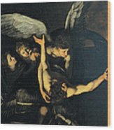 Seven Works Of Mercy Wood Print by Caravaggio