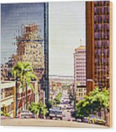 Seventh Avenue In San Diego Wood Print