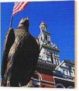 Sevierville Tenn Courthouse Eagleagle Wood Print