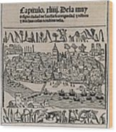 Sevilla In 1548. Xylography. Spain Wood Print