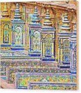 Seville And Plaza De Espana Wood Print