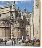 Seville Cathedral In The Old Town Wood Print