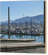Seward Alaska Bay Wood Print