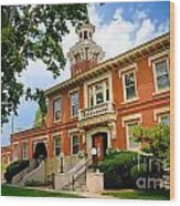 Sewickley Pennsylvania Municipal Hall Wood Print