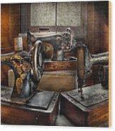 Sewing - A Chorus Of Three Wood Print