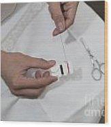 Sewing Wood Print