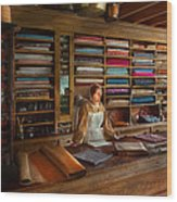 Sewing - Minding The Mending Store Wood Print by Mike Savad