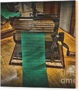 Sewing - The Victorian Seamstress  Wood Print by Paul Ward