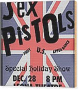 Sex Pistols First Us Appearance Wood Print