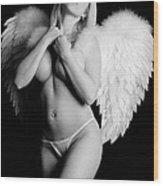 Sexy Angel  Wood Print