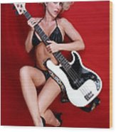 Sexy Guitar Wood Print