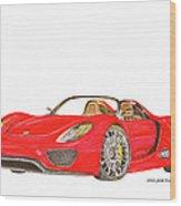 Sexy Spyder Porsche 918 Wood Print