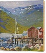 Seydisfjordur Wharf Wood Print