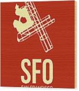 Sfo San Francisco Airport Poster 2 Wood Print