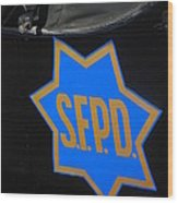 Sfpd Emblem Wood Print by T C Brown