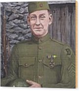 Sgt Sam Avery Wood Print