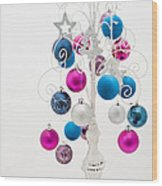 Shabby Chic Christmas Wood Print