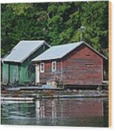 Shacks In Alaska Wood Print