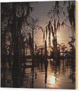 Shade On The Bayou Wood Print